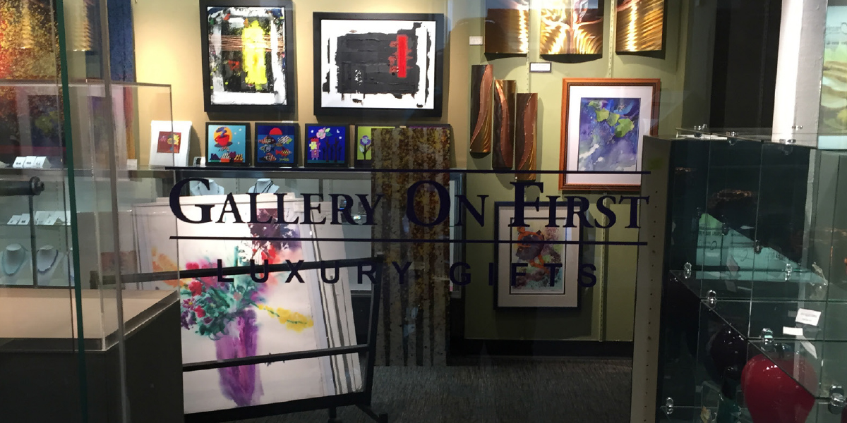 Gallery Window with Logo